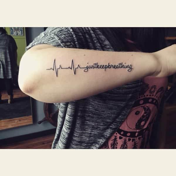 225 Heartbeat Tattoo Design Ideas For 2019