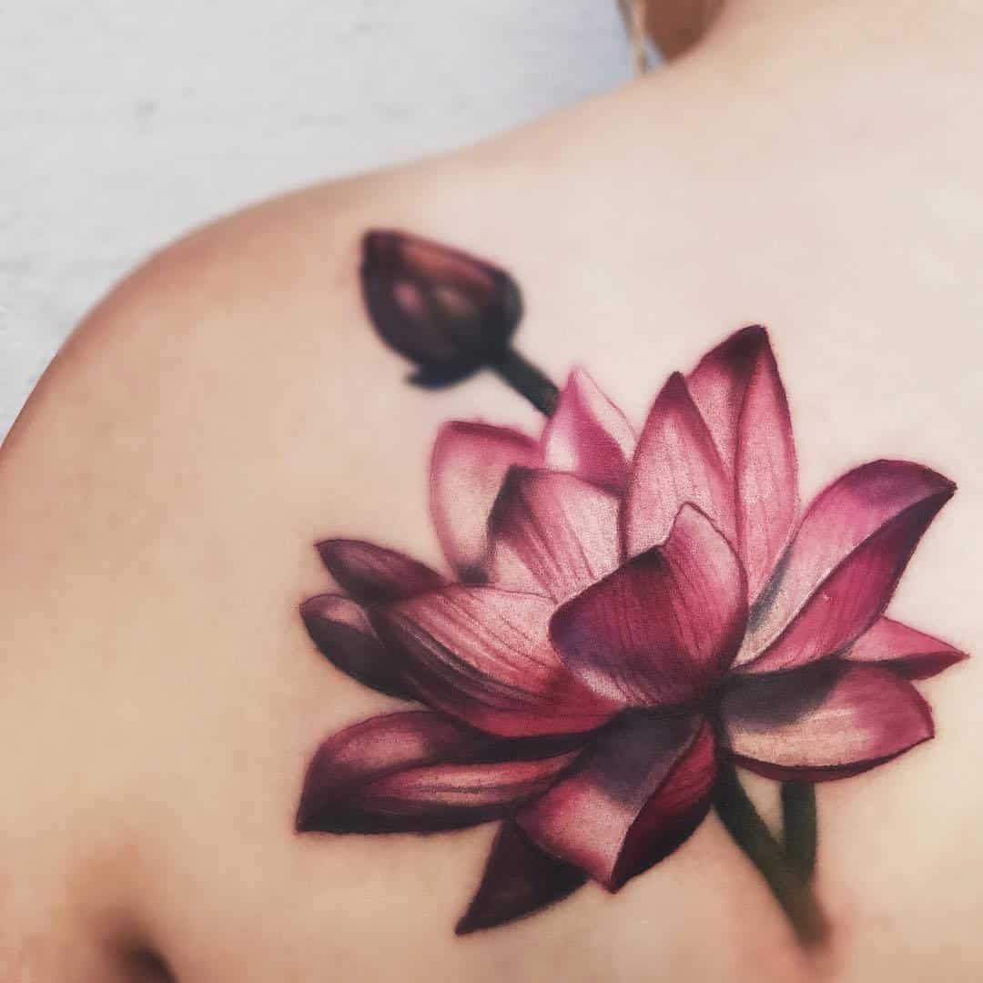 155 trendy lotus flower tattoos that you dont want to miss 25 spiral an extended lotus flower izmirmasajfo