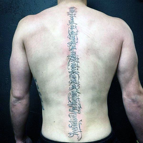 145 Spine Tattoo Designs That Fit Anyones Lifestyle