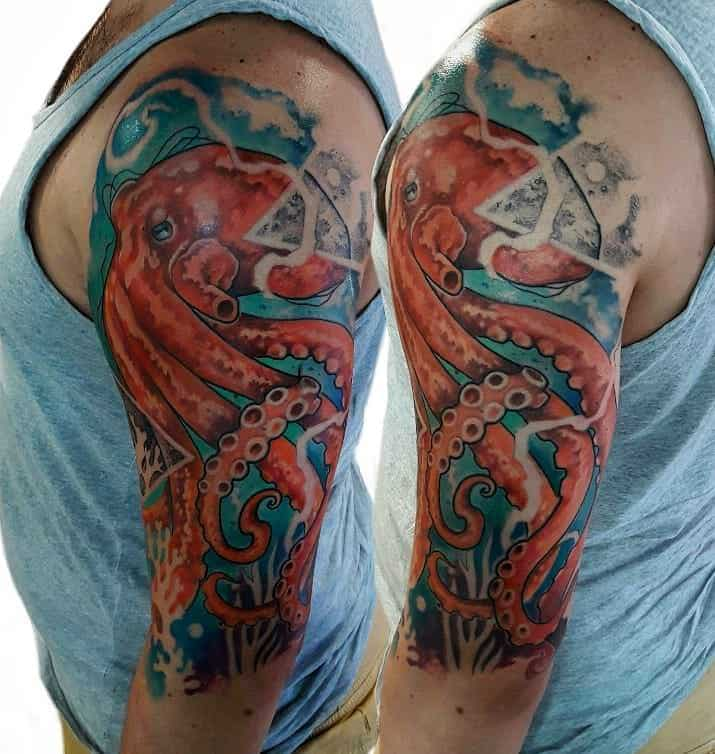 Japanese Kraken Tattoo