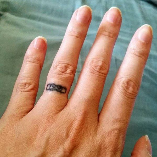 Wedding Ring Tattoos.225 Wedding Ring Tattoos For 2019