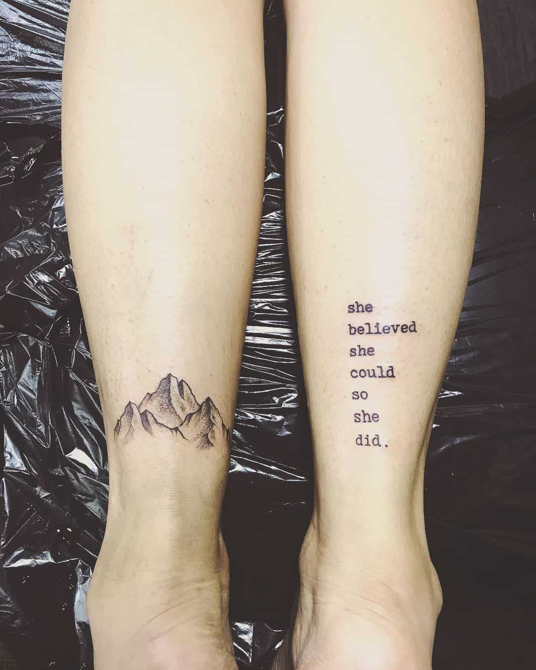 ff8558d6b1898 Mountain tattoos represent strength and stability. They also represent  victory by over coming all odds. Are you ready to climb the mountain?
