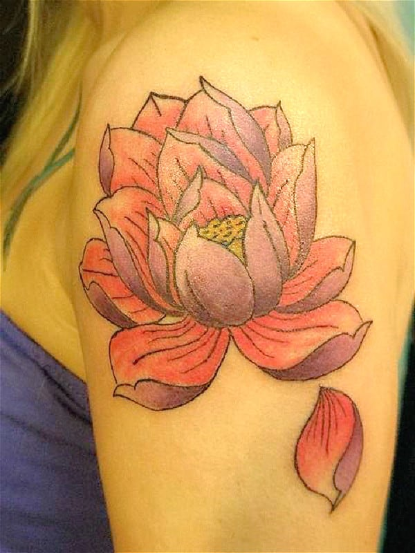 lotus tattoo for girls