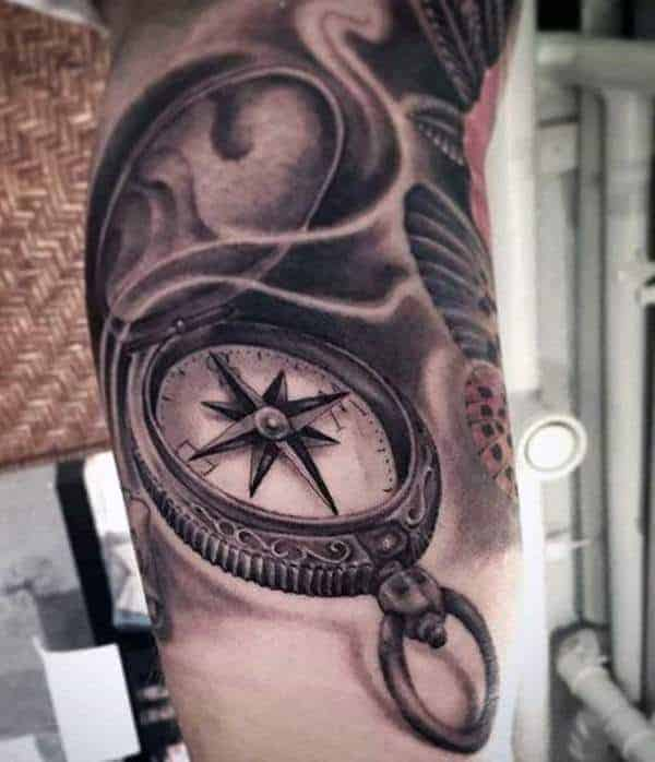 113 Compass Tattoo Designs To Help You Find Your Way