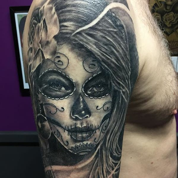 184 Day Of The Dead Tattoos That Push The Little Daisies