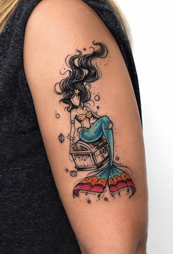180 Mermaid Tattoos That Will Get You Wet