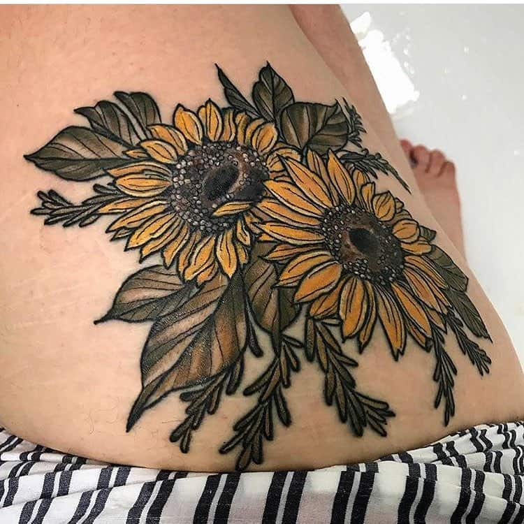 144 Sunflower Tattoos That Will Brighten Up Your Life