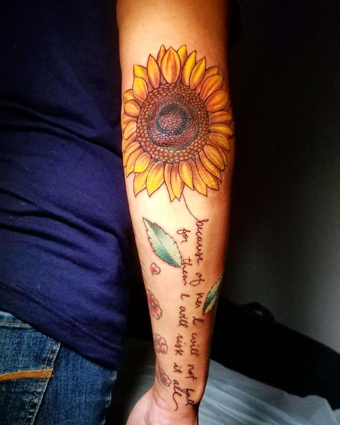 Sunflower And Daisy Tattoo: 144 Sunflower Tattoos That Will Brighten Up Your Life