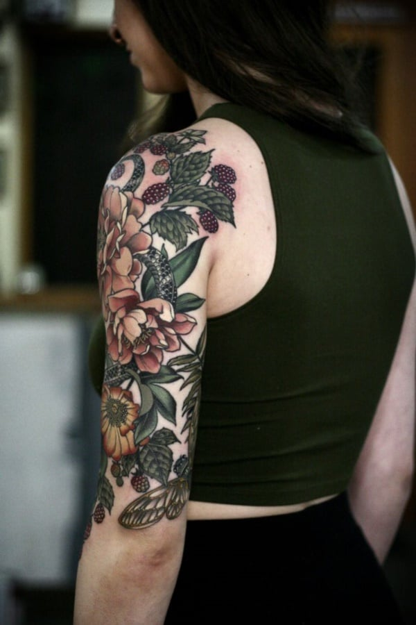 full sleeve tattoo girls
