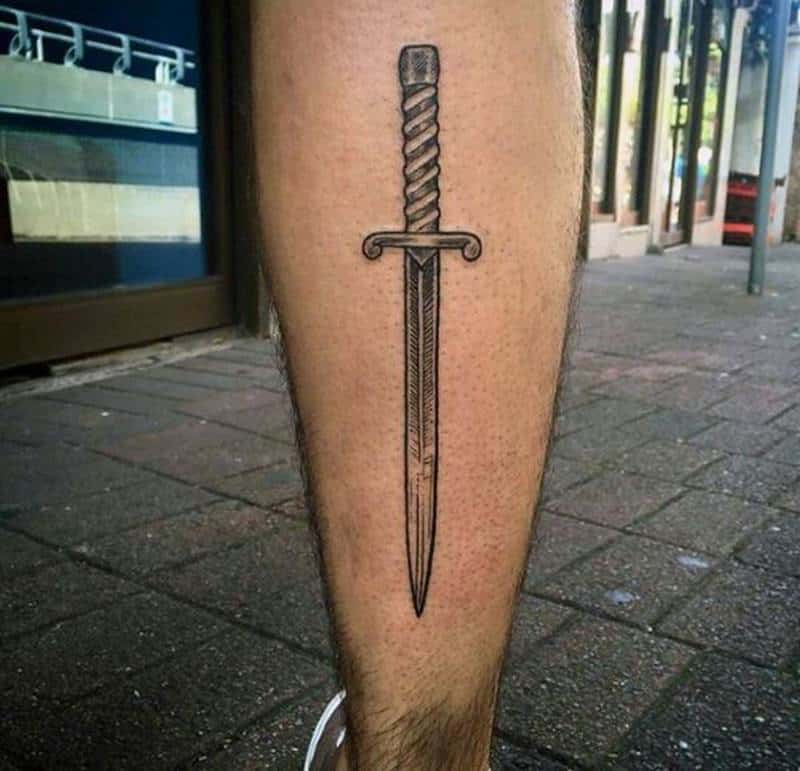 41 Sharp Knife Or Dagger Tattoo To Try This Year