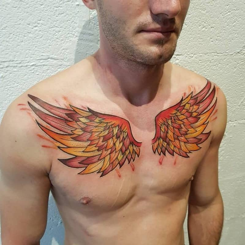 151 Gliding Wing Tattoos That Stand Out From The Others