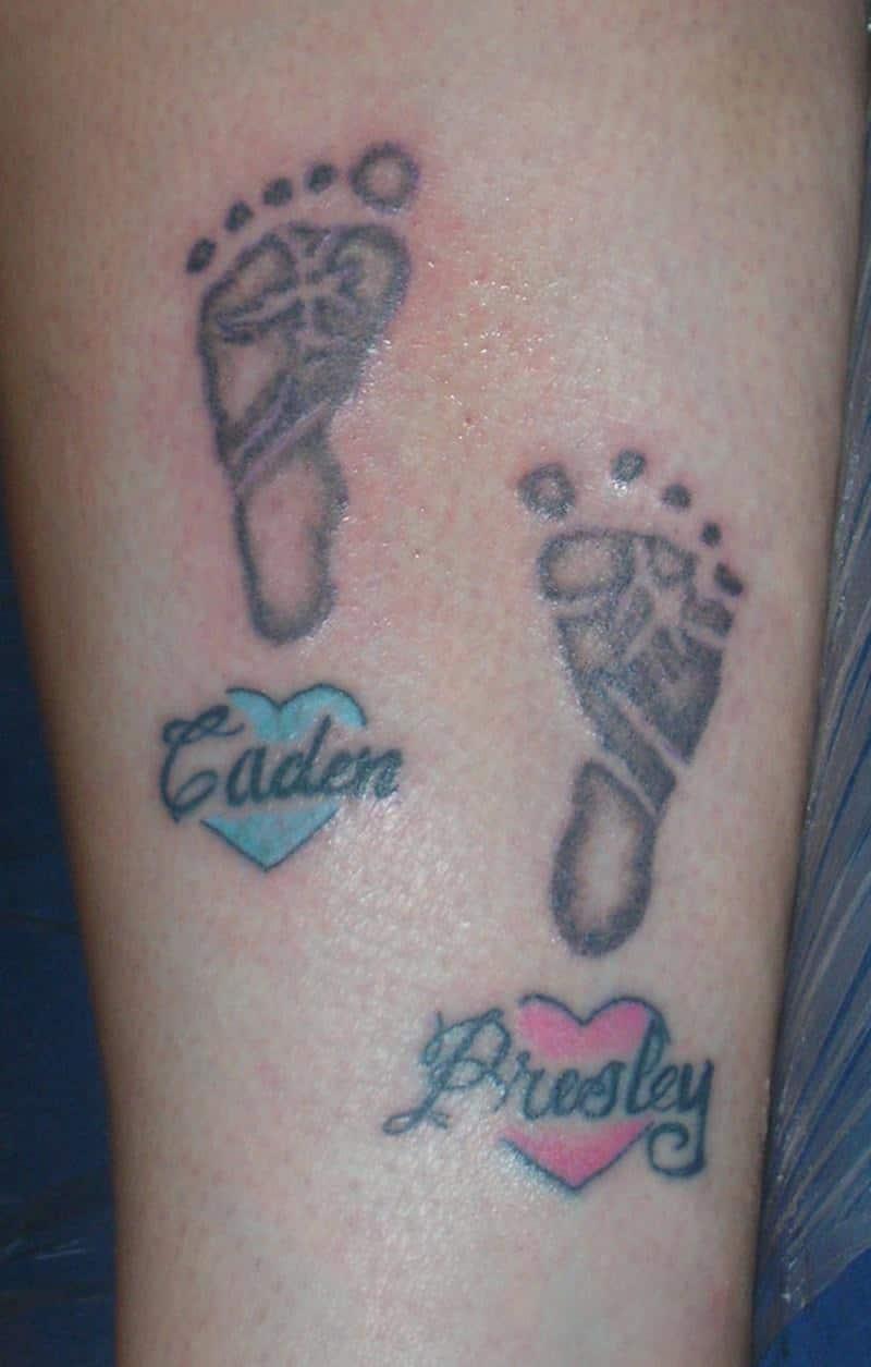 75 Most Popular Baby Footprint Tattoos, Symbols, and Ideas